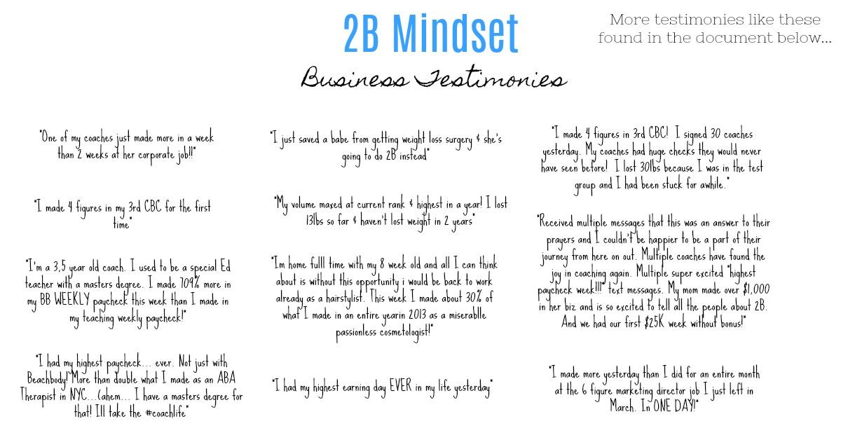 Business Testimonies W/ 2B Mindset - Mindy Wender Fitness